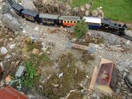 September - Furkadampfzug kurz vor Tiefenbach