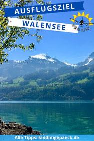 Ausflugsziel Walensee für Familien.