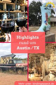 Sehenswürdigkeiten rund um Austin.