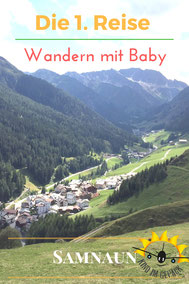 Die erste Reise mit Baby zum Wandern.