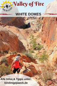 White Domes Wanderung im Valley of Fire.
