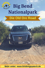 Die Old Ore Road in Texas.