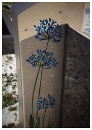 Ornament Blüte Swarovski Steine