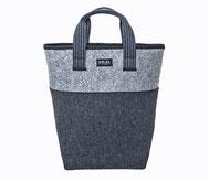 Filz Tasche grau Einkaufstasche EM-EL Collection Schweiz