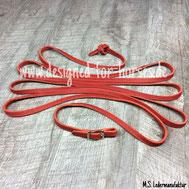 Feine Kurzlonge mit silberner Islandschnalle Rot 12mm