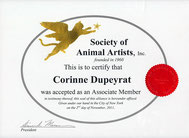 Signature member de la Society of Animal Artists (USA)