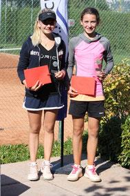 Siegerin: Fiona Ganz, R2, (rechts), Finalistin: Liv Drolshammer, R3, (links): 7/6,6/4