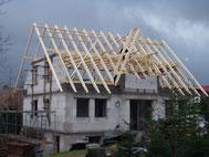 Neubau Satteldach mit Friesengiebel