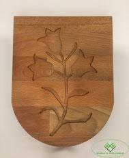 Gemeinde Wappen aus Holz