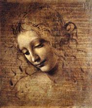 Leonardo da Vinci - Frauenkopf