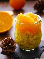 Kurkumareis mit Orangenfilets
