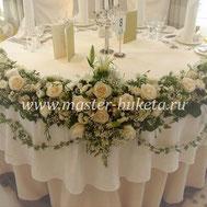 Оформление свадебного стола в Подольске