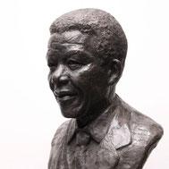 Buste-Bustes-Langloÿs-Bronze-Nelson-Mandela