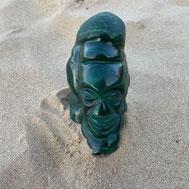 statuette malachite et faces brutes sur le site d'Alain rivera