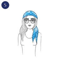 Tuto porter foulard bohème 5