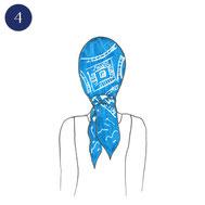 Tuto porter foulard bohème 4