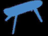 Skateboard Bank zum sitzen oder als Tisch. Möbel aus Recyclingmaterial. Skateboard bench made from recycled skateboards. Upcycling furniture.