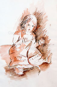 Nr.2008  Mädchen-Puppe