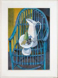 Nr. 3422 Obststilleben auf blauem Stuhl