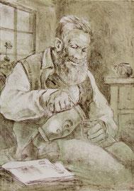 Nr.815 Grossvater mit Mostkrug