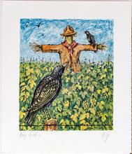 Nr.3161 Vogelscheuche + Stare (29x34cm)
