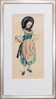Nr.2932 Trachtenfrau (Ostschweiz?)