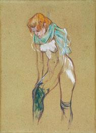 Toulouse-Lautrec, Femme qui tire son bas, 1894 / Musée d'Albi