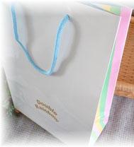 レインボー柄オリジナル手提げ袋
