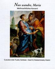 Nun wandre, Maria, Weihnachtliche Musik für Gesang und Harfe