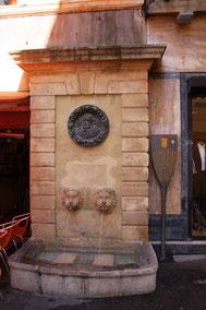 Bild: Fontaine des Bagniers aus dem 17. Jh. in Aix-en-Provence