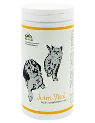 Joint-Vital ist eine Mischung aus Muschelfleisch, Algen, Wildlachs, Vitaminen, Kräutern und CBD-Öl, die gezielt für die Erhaltung des gesamten Bewegungsapparats.