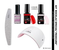 kit smalto semipermanente per pedicure con lampada compatta e portatile e colori a scelta eniinails nailspro