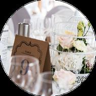 Hochzeitsdekoration Centerpiece Brautstrauß