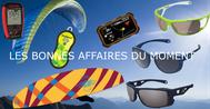 Les promotions parapentes lunettes de soleil et accessoires du printemps