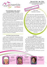 Claix de l'Info Décembre 2014
