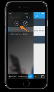 Bild: Jimdo-App iOS Blog-Artikel erstellen