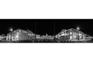 """""""Trieste Mon Amour"""",  Panoramica notturna di Piazza Unità d'Italia e de Le Rive  ~ """"Premio Internazionale Ambasciatore d'Arte""""  indetto da Spoleto Arte"""