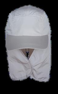 Kinderkappe mit Nackenschutz beige