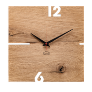 Moderne Holz Wanduhr mit geräuschlosem Quarzuhrwerk