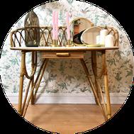 mobilier vintage chiné en brocante