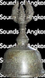 Cloche en bronze. Période inconnue. Musée National du Cambodge.