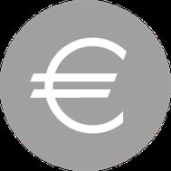 Euro-Zeichen umringt von einem Kreis.