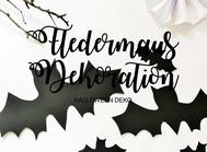 Bild: DIY Halloween Deko Ideen zum selber basteln mit Fledermaus Bastelvorlage als Freebie