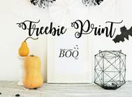 Bild: DIY Halloween Deko, kostenlose Bastelvorlage als Poster für Halloween Deko
