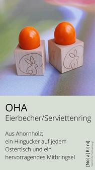 Eierbecher und Serviettenring aus Ahorn - Holz