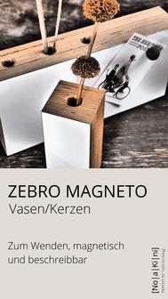 Magnetische, beschreibbare Vase bzw. Kerze zum Wenden