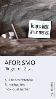 Ringe aus Birken-Furnier; versilbert und individualisierbar