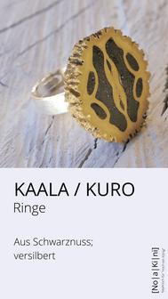 Ring aus Schwarznuss, versilbert