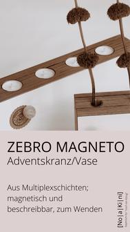 Adventskranz aus Holz, magnetisch und beschreibbar