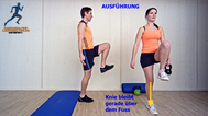 Käftigungsübung, Kettlebell für Gesäß, Rücken, Physio Übung